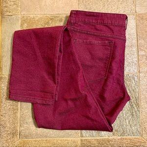 Prana Kara Jean Skinny Stretch Berry Jeans Sz 6
